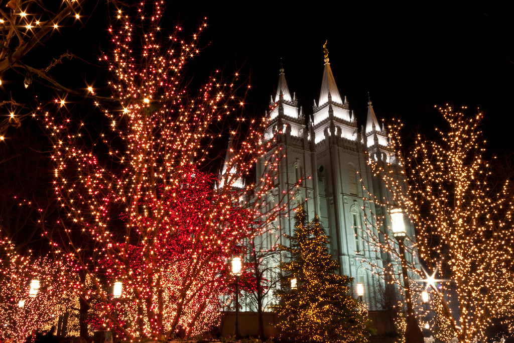 Salt Lake City Temple Christmas lights