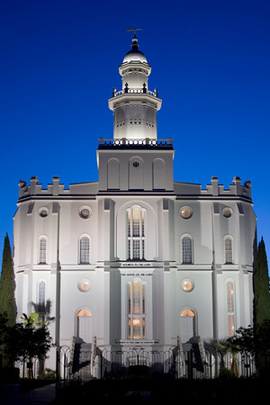 St George Temple at dusk