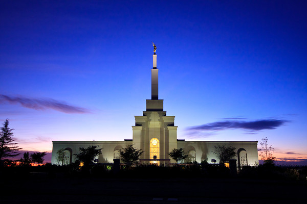 Albuquerque Temple at dusk