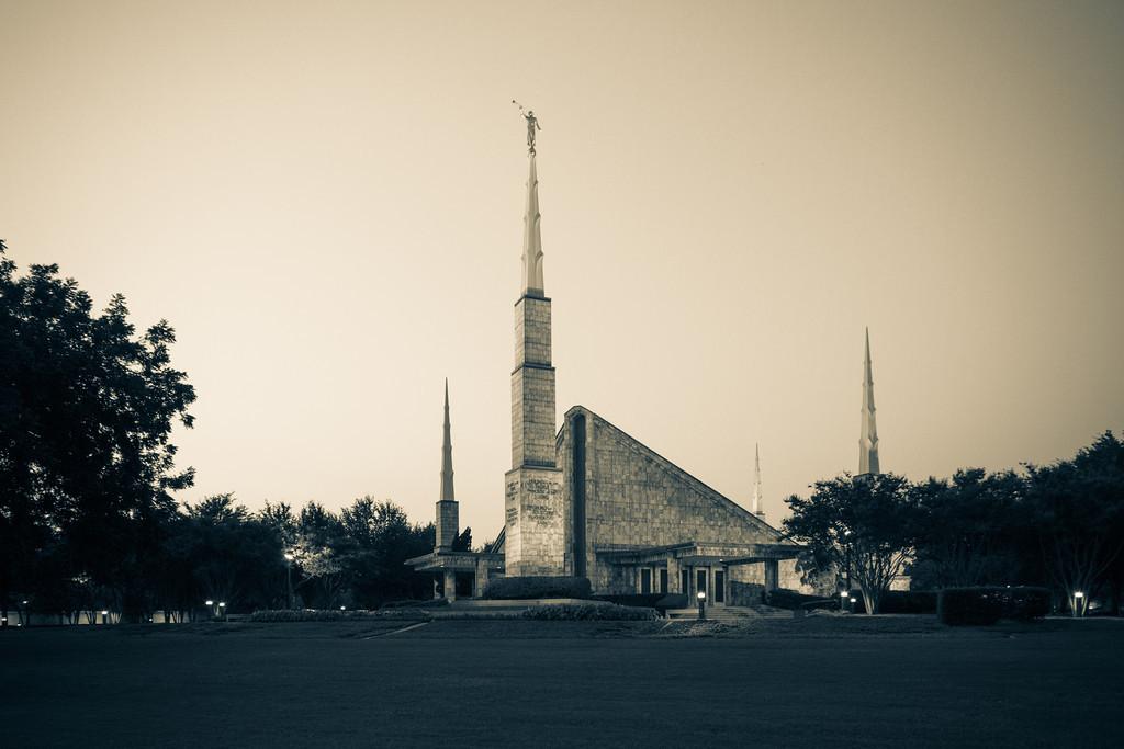 Dallas Texas Temple - Sepia