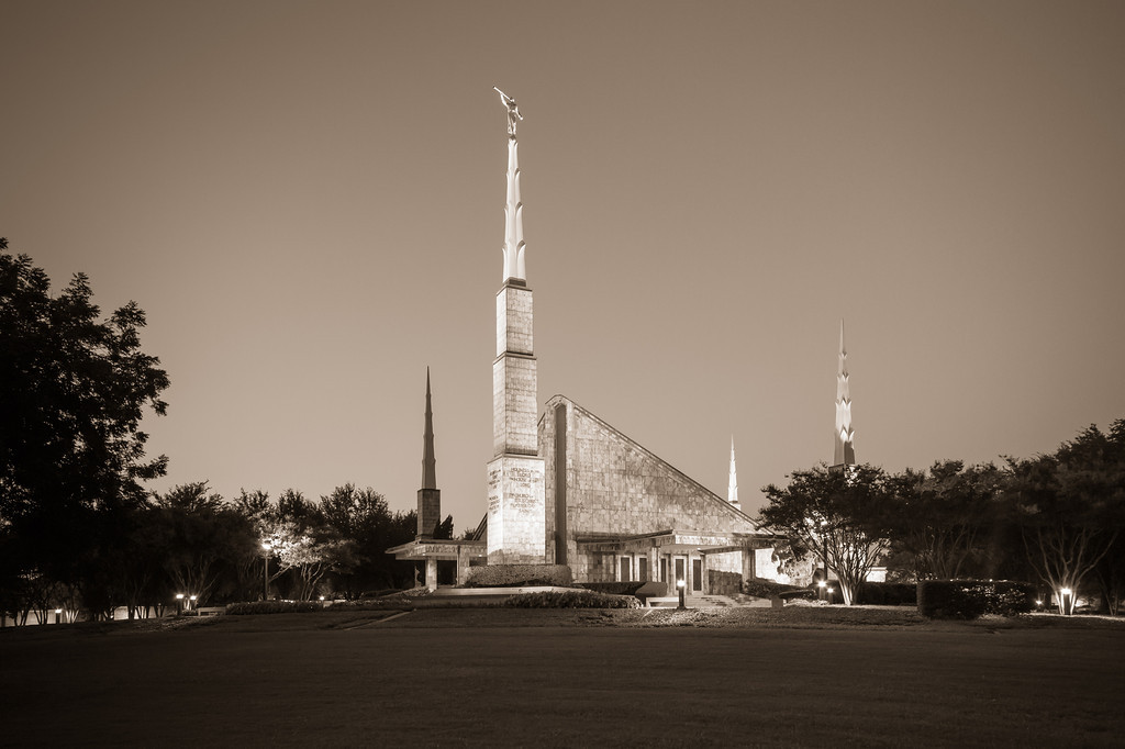Dallas Texas Temple - Sepia