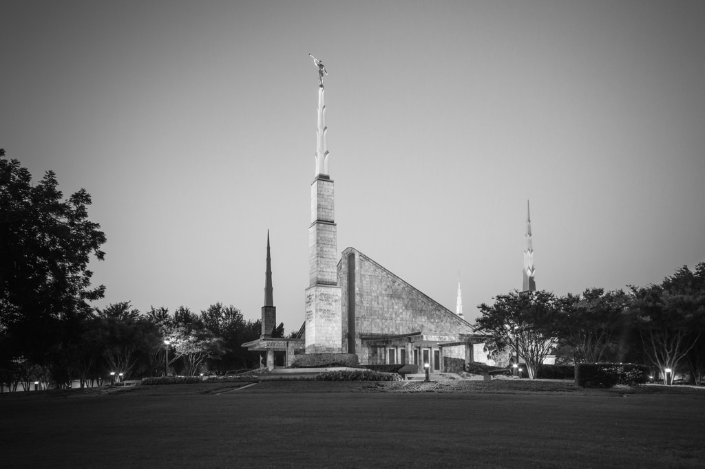 Dallas Texas Temple - Black & White