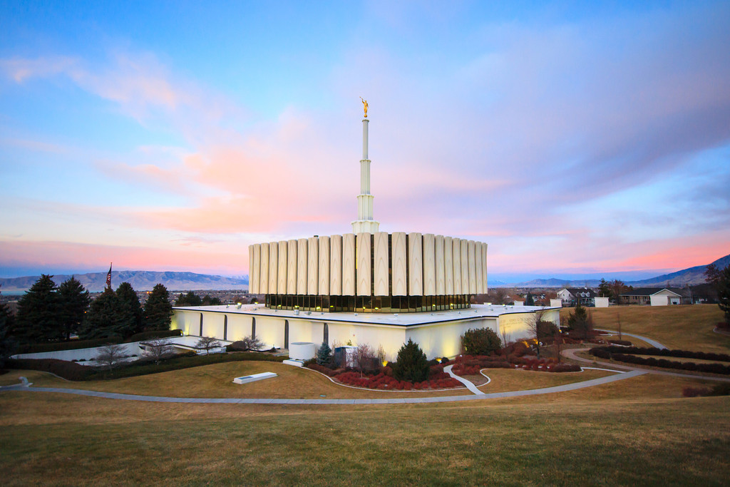 Provo Utah Temple Sunrise