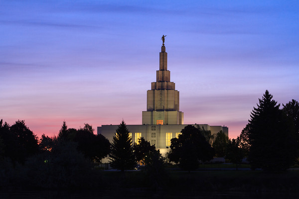 Idaho Falls Idaho Temple at Sunrise