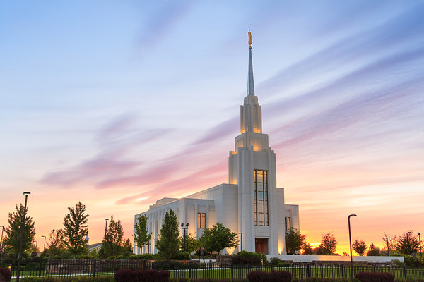Twin Falls Idaho Temple at Sunset