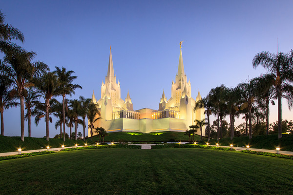 San Diego California Temple at Sunrise