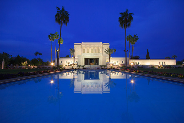 Mesa Arizona Temple at Dusk