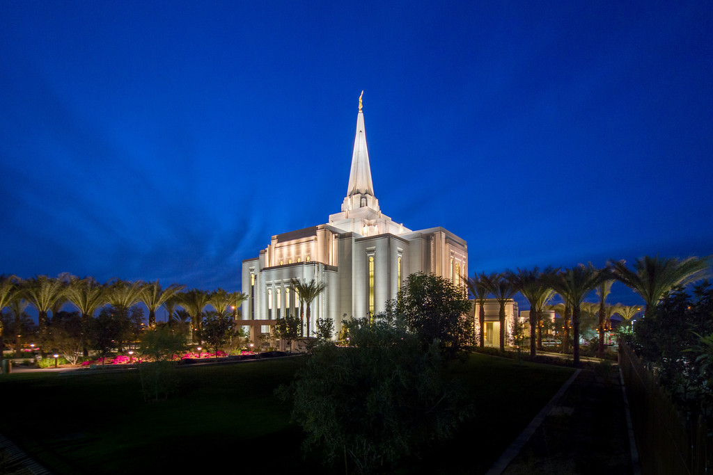 Gilbert Arizona Temple at Dusk