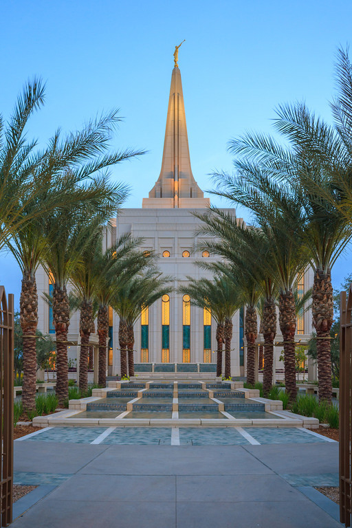 Gilbert Arizona Temple at Sunrise