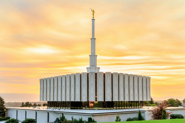Provo Temple at Sunset