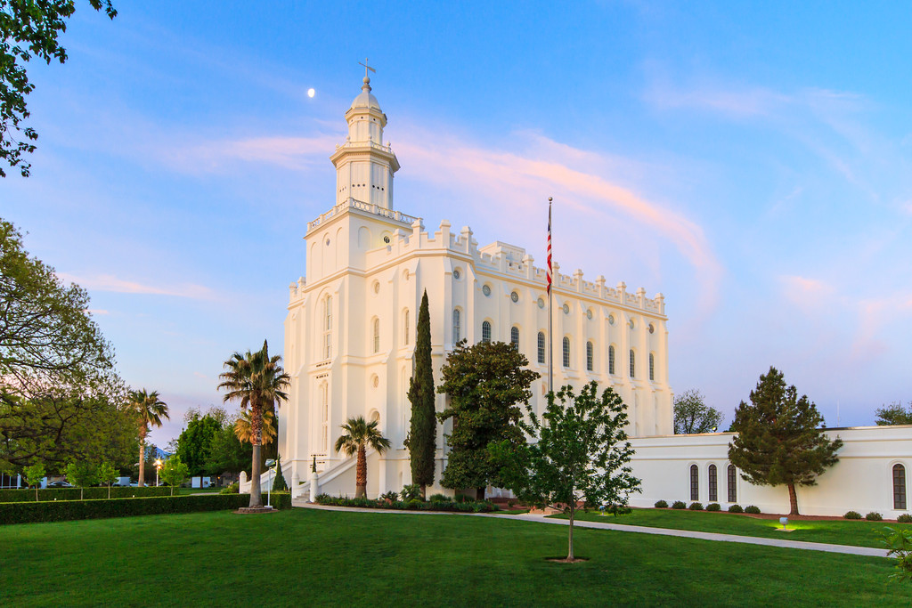 St George Temple at sunrise