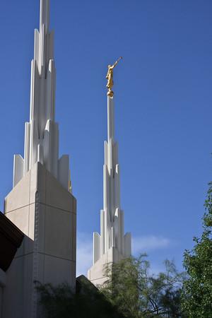 Las Vegas Temple spires