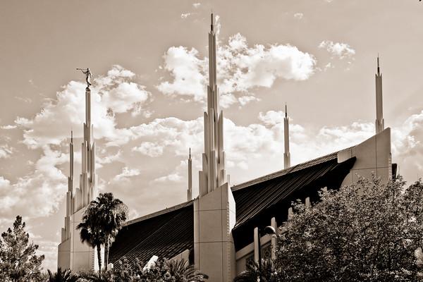 Las Vegas Temple sepia