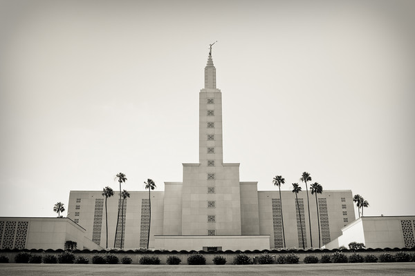 Los Angeles Temple black and white